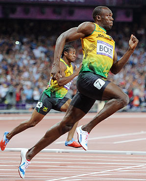 An extended posture might help Usain Bolt be the fastest human being alive. But you're not Usain Bolt. (Unless you are.)